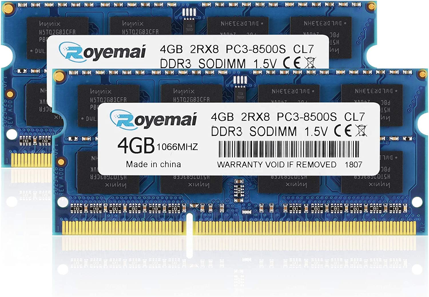 8GB Kit (2x4GB) PC3-8500 DDR3 1067MHz 1066MHz RAM Upgrade for Late 2008, Early/Mid/Late 2009, Mid 2010 MacBook, MacBook Pro, iMac, Mac Mini