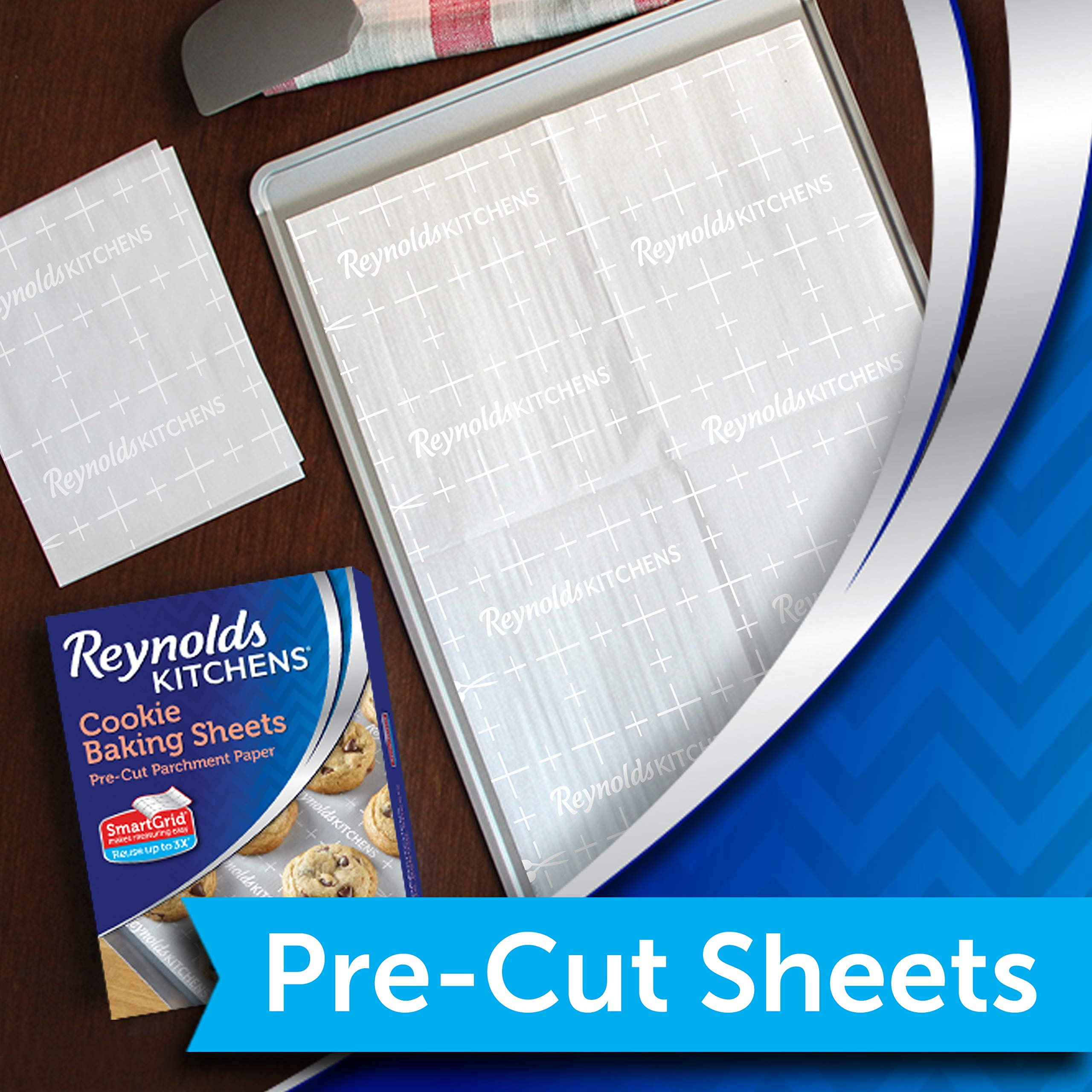 Reynolds Cookie Baking Sheets Non-Stick Parchment Paper, 25 Sheet, 4 Count by Reynolds (Image #2)