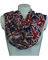 Eleoption Lightweight Viscose UK Uion Jack Flag Print Women Ladies Souvenir Scarf