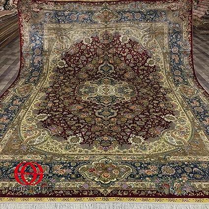 9x12 persian rug bakhtiari isfahan silk rugs 9x12 red persian rug for living room yuchen carpet amazoncom