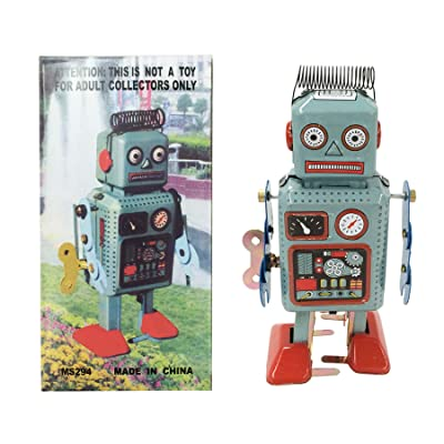 Off the Wall Toys Retro Classic Wind-up Robot (Japan Circa 1940s): Toys & Games