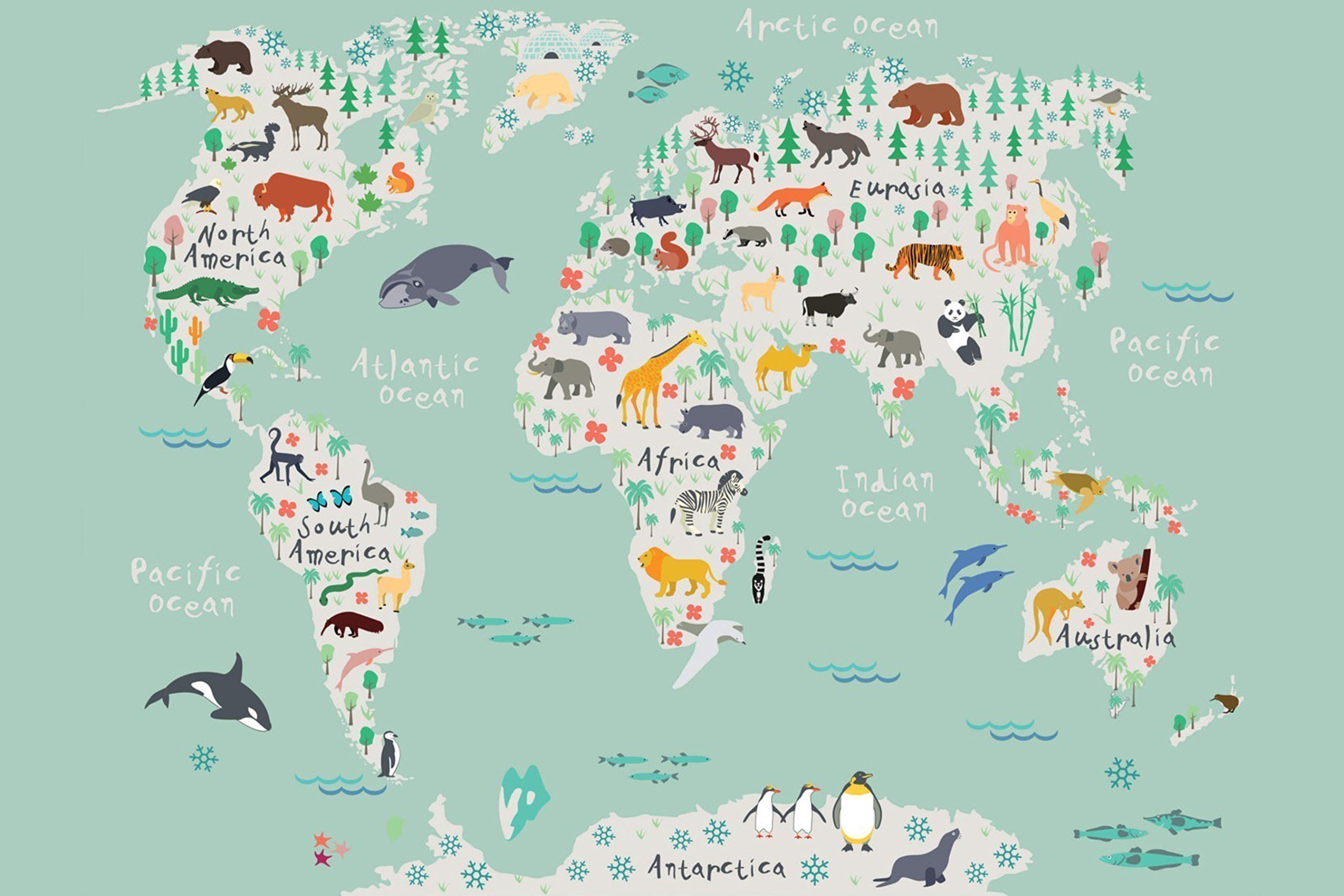 Travel Map of the World, Adventure Awaits, Watercolor Map, Kid Map, Childrens Map World Map Canvas Wall art, Large Wall Art, Gender Neutral Nursery Decor