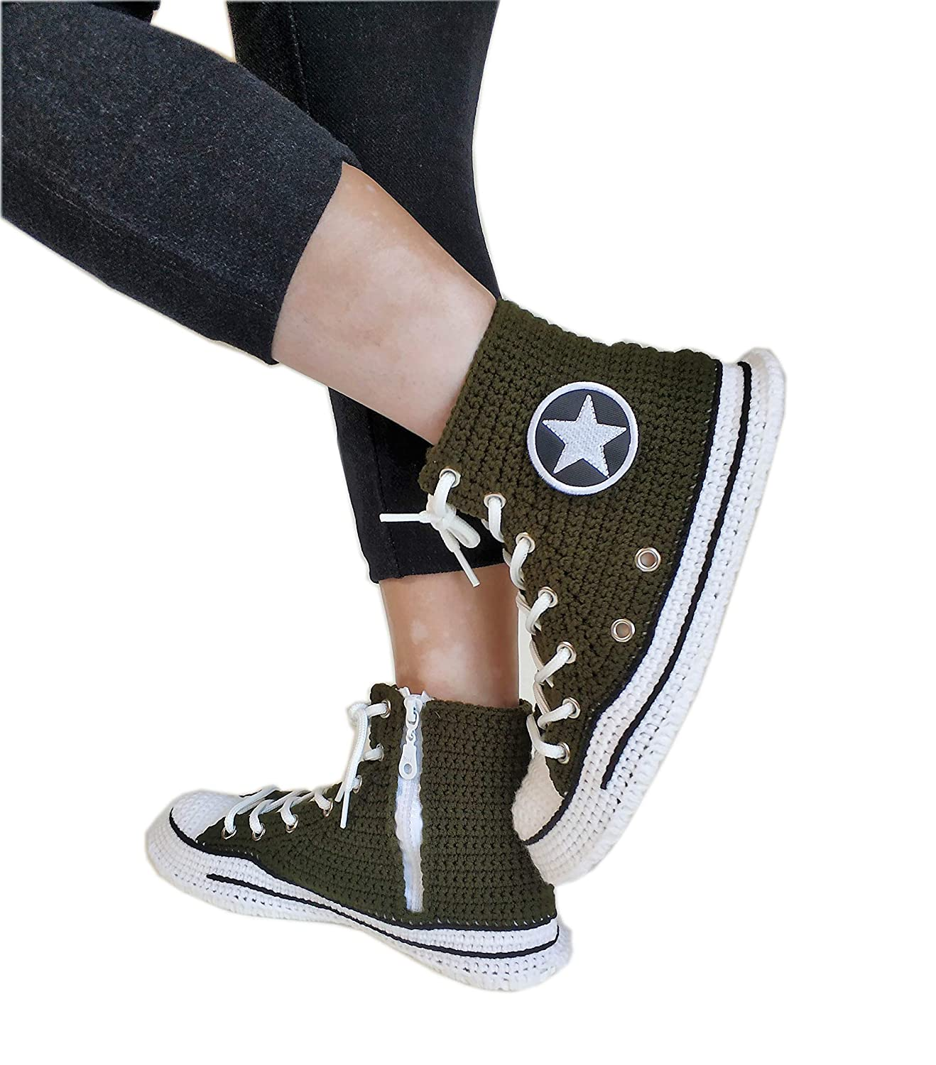 Army Green Military Sneakers High