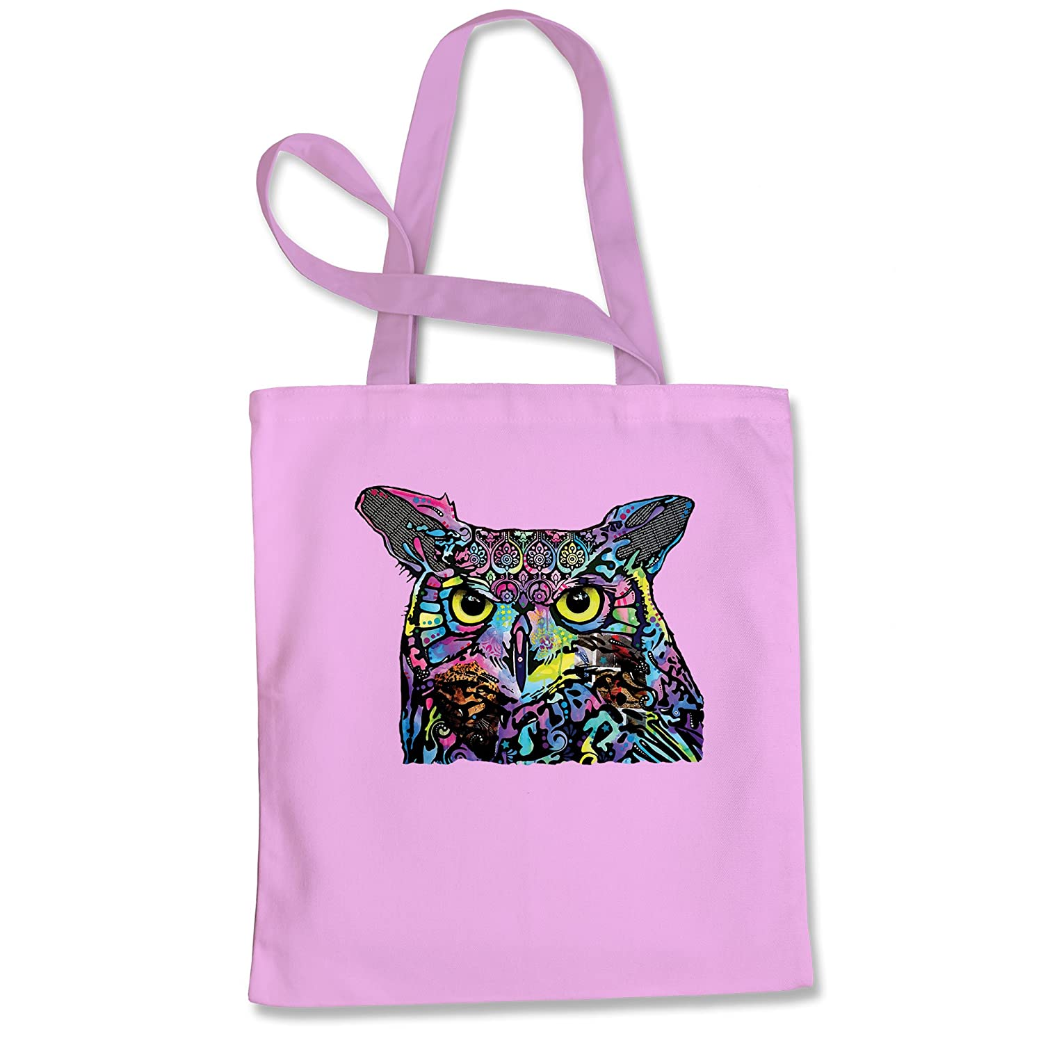 Expression Tees Neon Owl Shopping Tote Bag