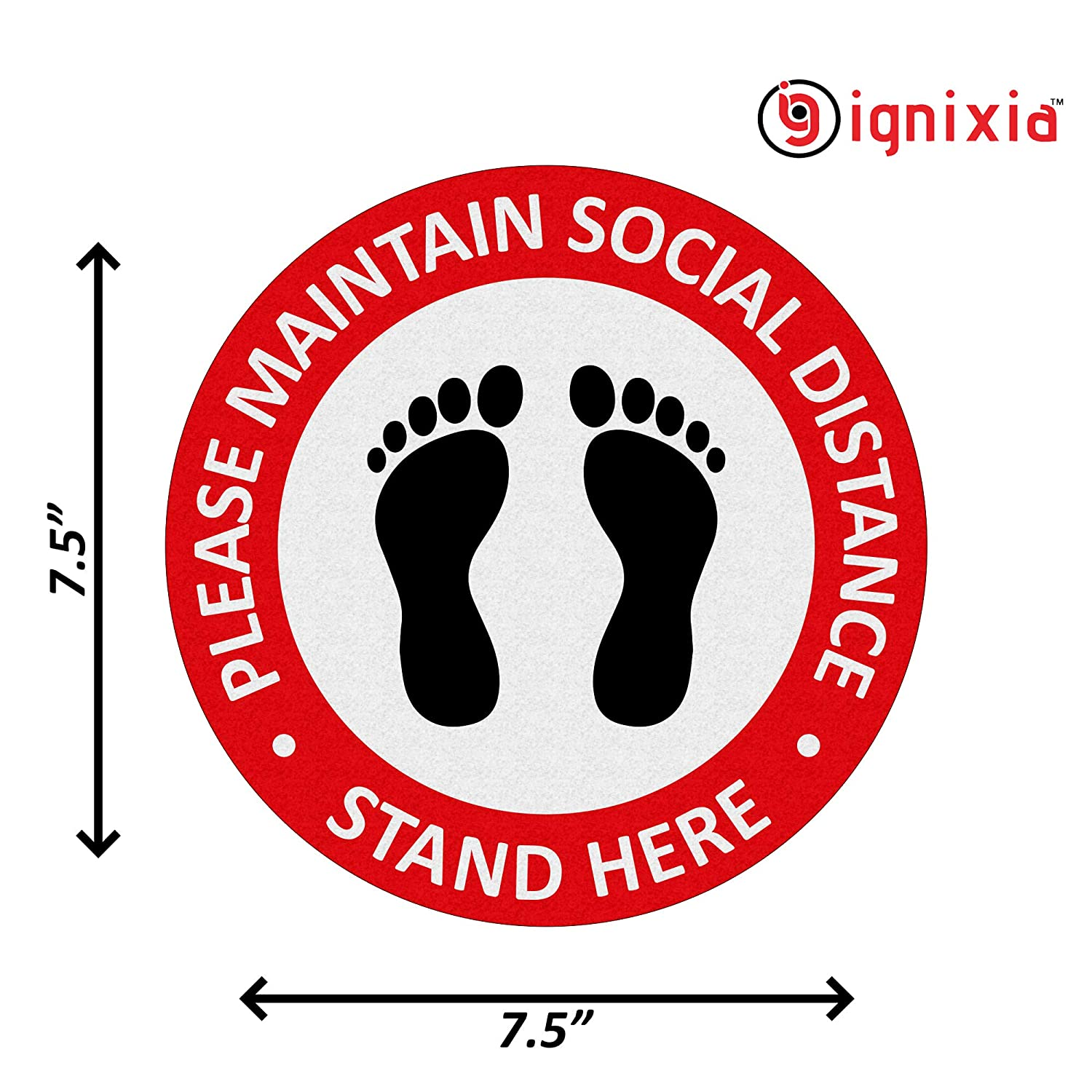 2 x Social Distancing Stickers Vinyl Door /& Window Signs White No More Than 6