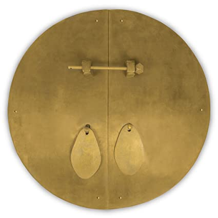Delicieux Chinese Brass Hardware Fat Cabinet Face Plate 14 1/2u0027u0027