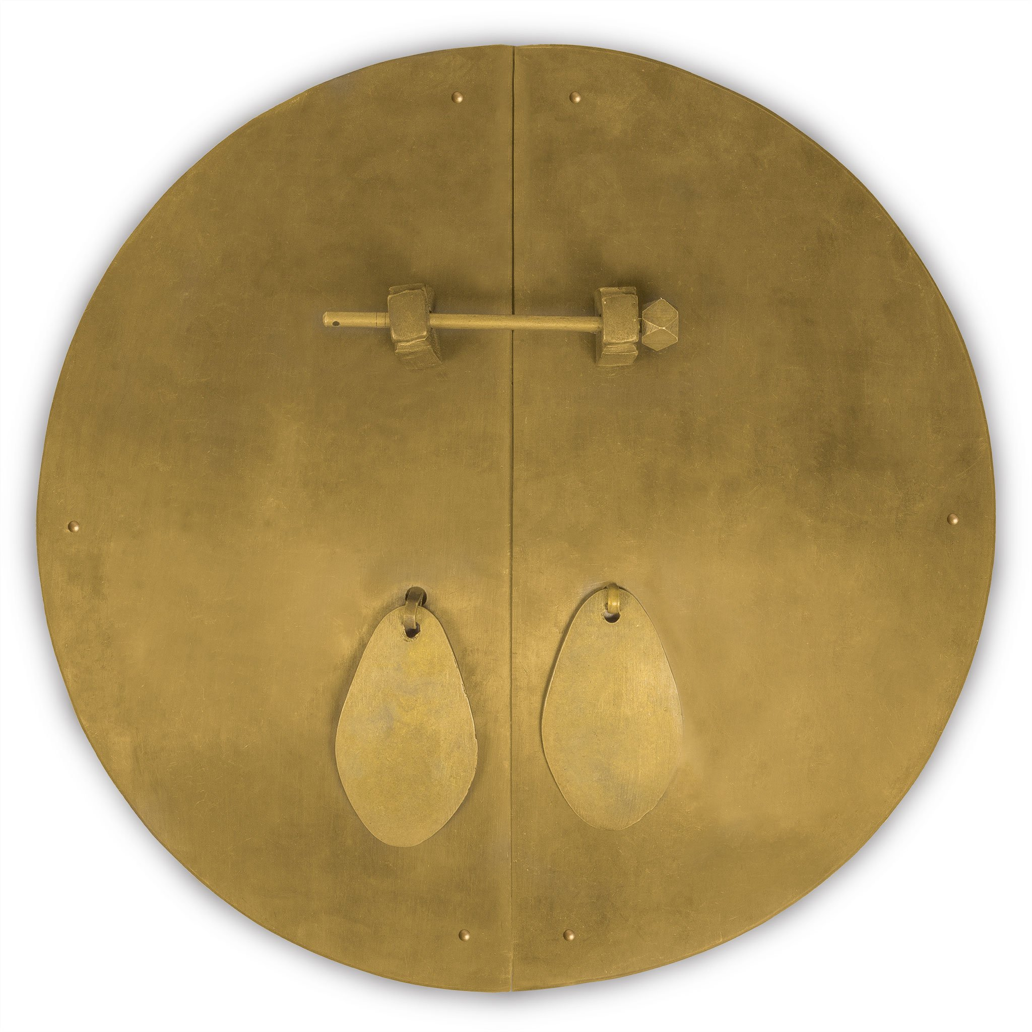 Chinese Brass Hardware Fat Cabinet Face Plate 14-1/2''