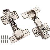 Dobradiças de armário DecoBasics totalmente sem moldura, sobreposição oculta para cozinhas, banheiros | Fecho macio com amort