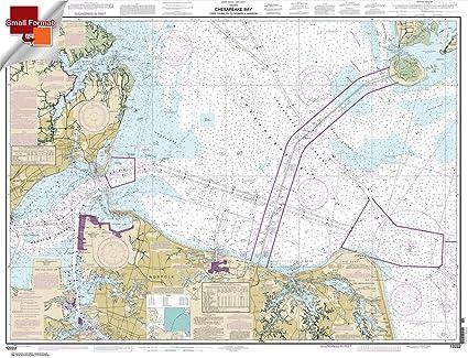 Amazon.com: NOAA Chart 12222: Chesapeake Bay Cape Charles to ...
