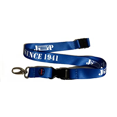 Since 1941 Jeep Lanyard Keychain Holder - Colors: Black, Pink, Purple, Red, White, Blue (Blue): Automotive
