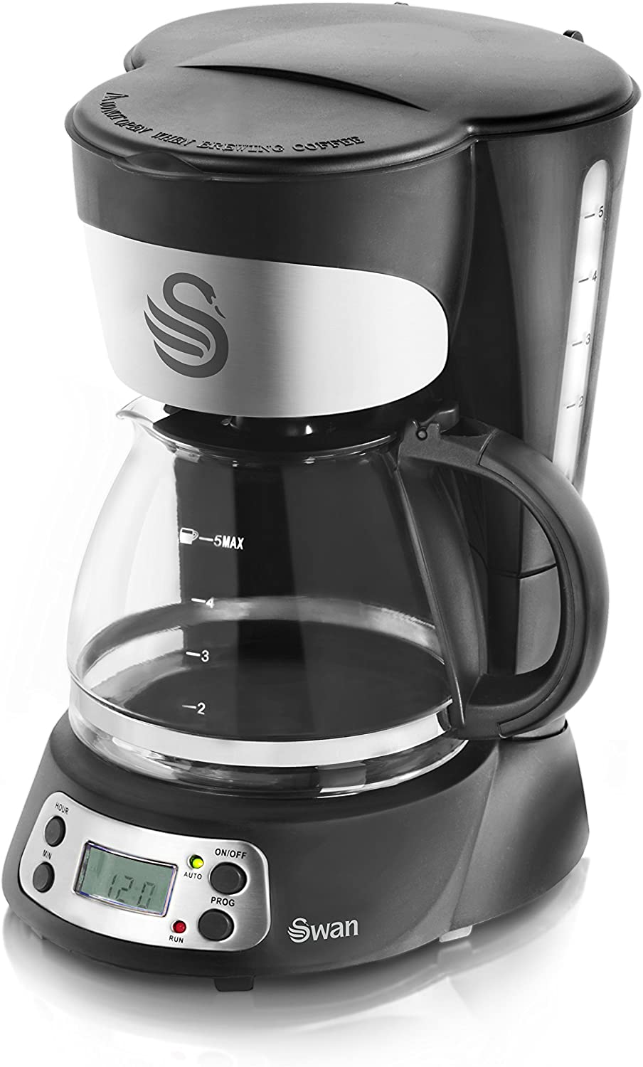 Swan 750ml Programmable Coffee Maker with Anti Drip Function, 700w, Black