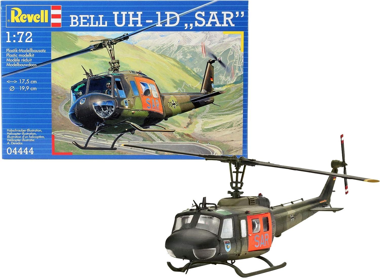 Revell Bell UH-1D SAR helicóptero, Kit de Modelo, Escala 1:72 (4444) (04444), Multicolor