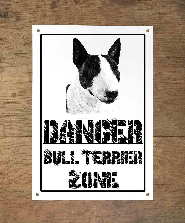 Danger Bull Terrier zonas Placa cartel Metal cuidado con el ...