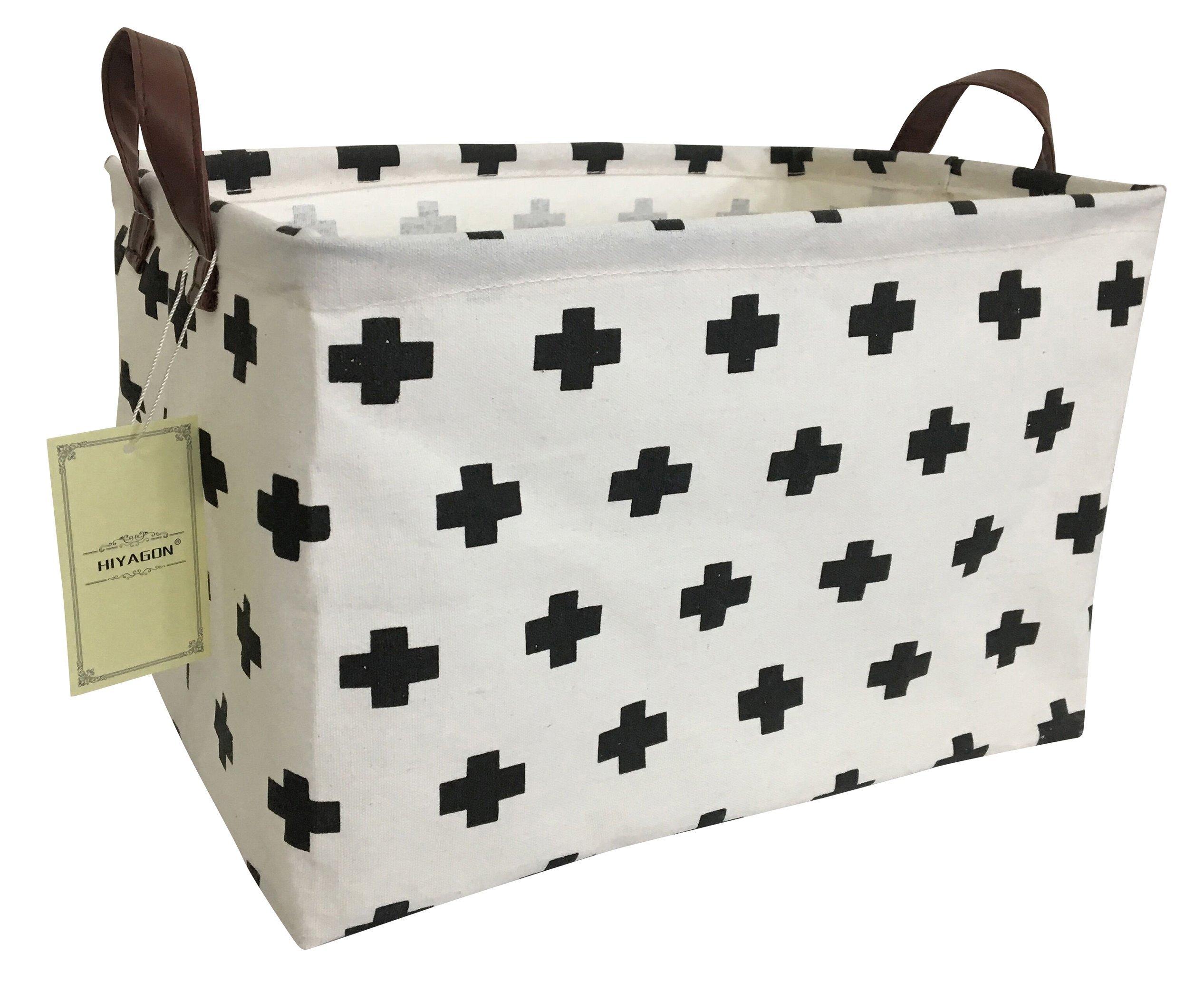 Square Collapsible Canvas Storage Box Foldable Kids Toys: Amazon.com : HIYAGON Rectangular Storage Box Basket For