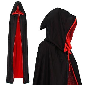 papapanda Vampiro Mantello Cappuccio Nero Rosso per Bambini o Aulti  Halloween Dracula Cosplay (170cm)  Amazon.it  Prodotti per animali domestici be5d7b285406