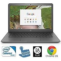 HP 14-ca061dx Chromebook Intel N3350 - visualización táctil de 14 Pulgadas, 4 GB, 32 GB, eMMC y Cromo, con Sistema operativo (Certificado)