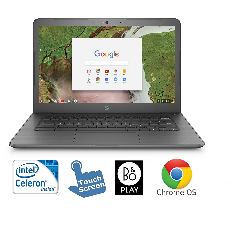 "HP 14-ca061dx Chromebook Intel N3350 4GB 32GB eMMC 14"" HD Touchscreen Chrome OS (Certified Refurbished)"