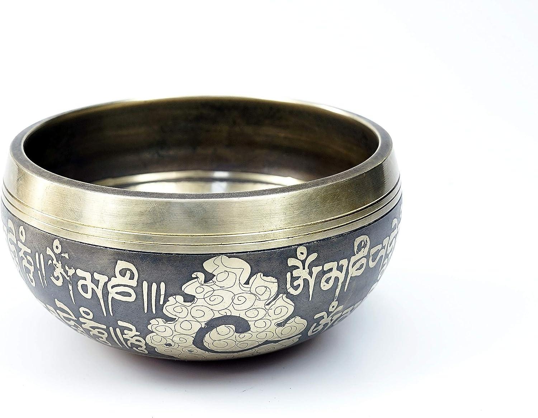 Infinite heart Tibetan Singing Bowl Set For Meditation Chakra Healing Yoga and Mindfulness Blue