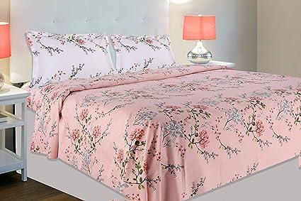 93c8921317 haus & kinder Victorian Summer Dream, 100% Cotton Double Bedsheet ...
