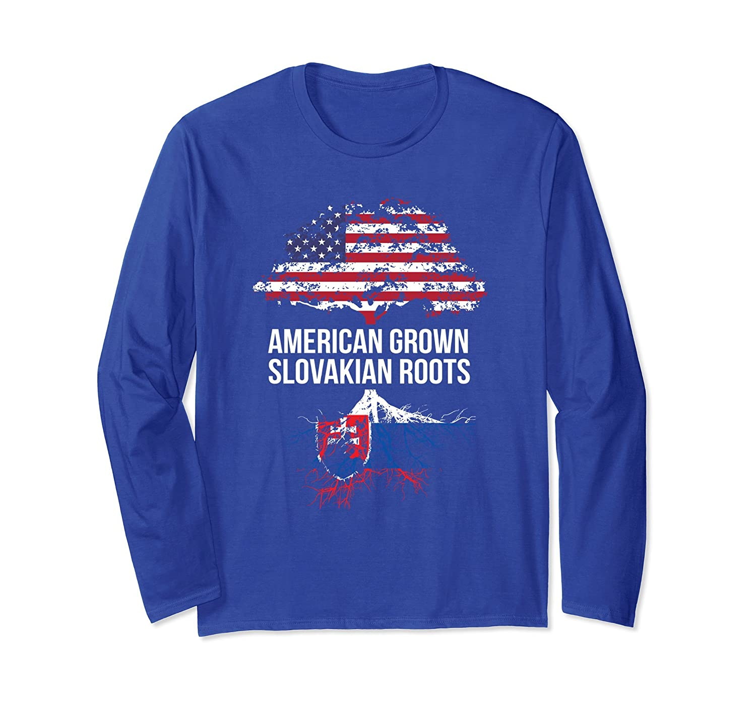 American Grown with Slovakian Roots Long Shirt - Slovakia-ah my shirt one gift