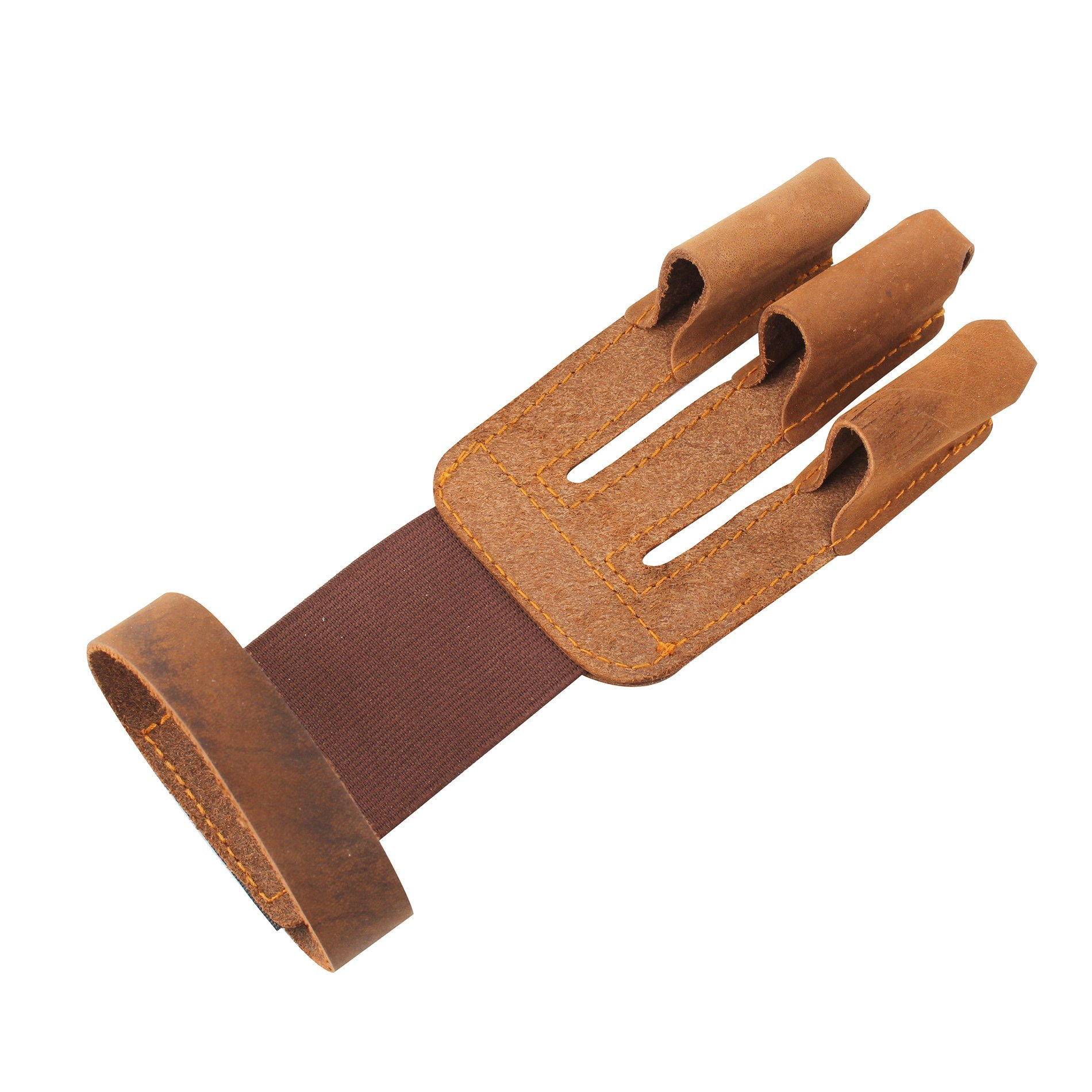 IDS Home Brown Shooting 3 Finger Protector Glove Guard For Archery Hunting Pull Bow Arrow