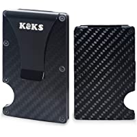 Money Clip - Carbon Fiber Card Holder - Business Card Organizer - Slim Carbon Fiber Wallet - Minimalist Wallet with Cash Clip - Anti-Scan RFID Credit Card Holder - Credit Card Case