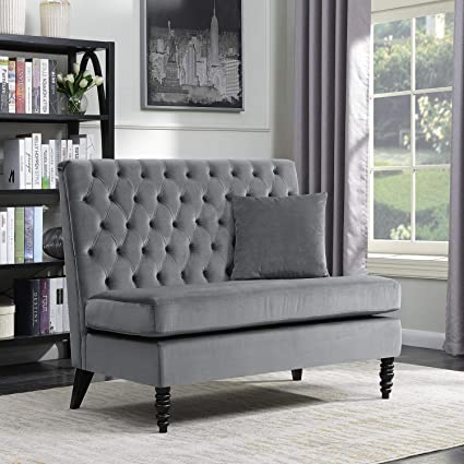amazon com belleze modern button tufted settee bedroom bench rh amazon com sofa for bedroom indian sofa for bedroom sale