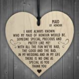 Red Ocean Maid Of Honour As Special As You Wooden Hanging Heart Plaque Wedding Gift Sign