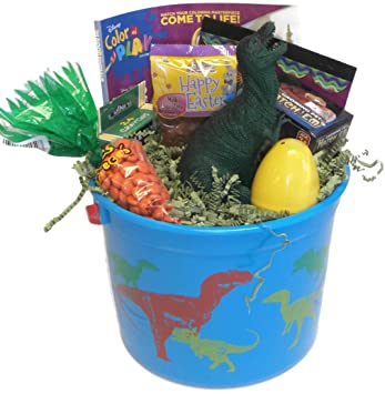Dinosaur Easter Basket With Hatching Egg Mini Dino Dig Dinosaur
