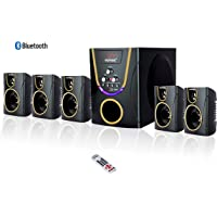 Vemax Posh 5.1 Bluetooth Multimedia Home Theater System with FM USB AUX (Gloss Black & Golden)