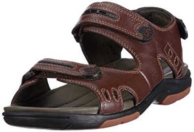 e0d3b1179937f Clarks Men's 20348476 Open Toe Sandals Brown Size: 12 UK: Amazon.co ...