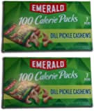 Emerald Dill Pickle Cashews 100 Cal Packs, 2 Boxes