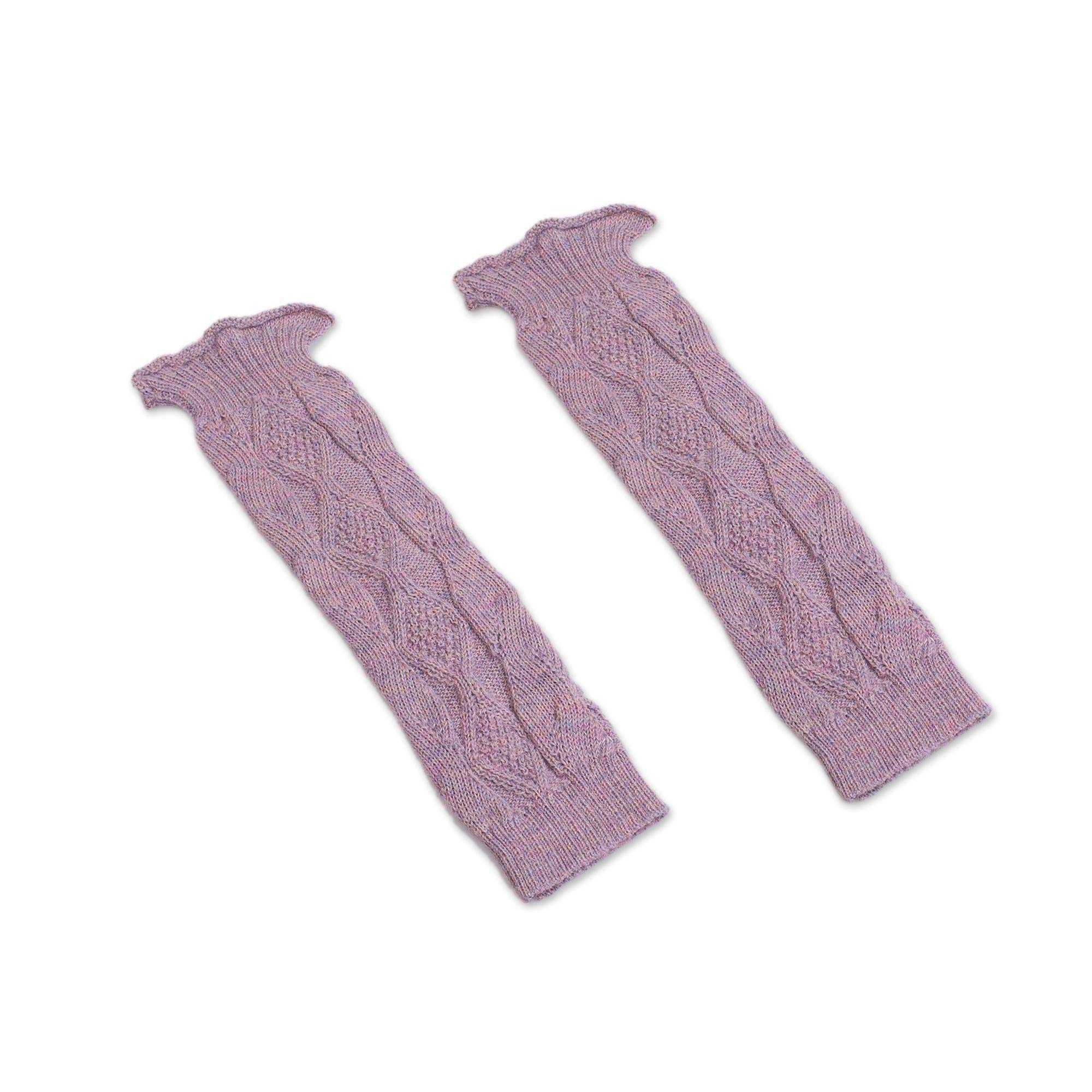 NOVICA Pink 100% Alpaca Leg Warmers, Cozy Rose' by NOVICA