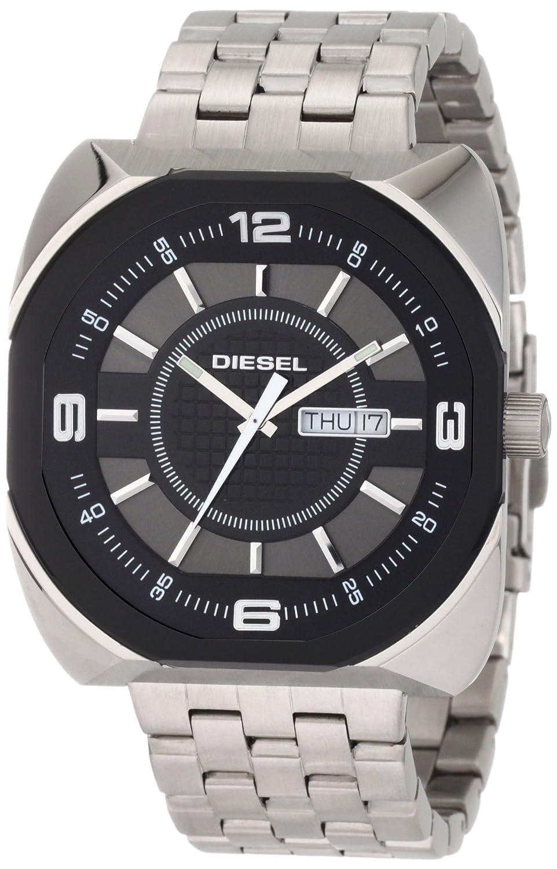 Diesel Watches Men s Black Analog 5 Link Bracelet