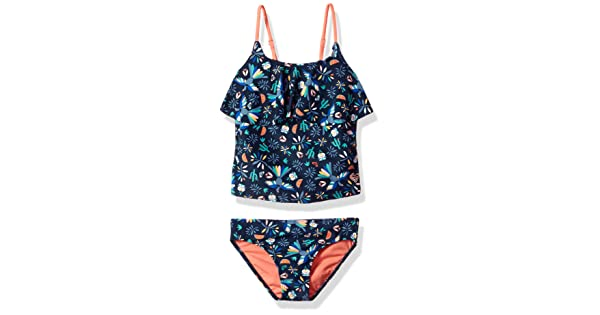 e48ccae4f8 Roxy Toddler Girls' Birdy Two Piece Tankini Swimsuit Set, Dress Blue Bird  in The Sky, 2