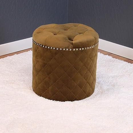Terrific Amazon Com Monsoon Pacific Lemele Round Velvet Ottoman Pabps2019 Chair Design Images Pabps2019Com