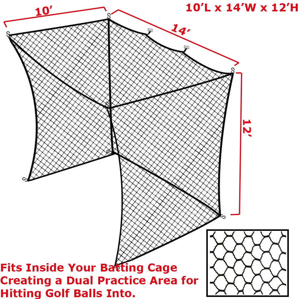 Amazon.com : Select 10\'x14\'x12\' Golf Practice Net Insert for a ...