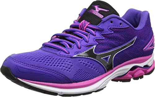 Mizuno Wave Rider 20 (w), Zapatillas de Running para Mujer, Morado (Liberty/Black/Electric), 41 EU: Amazon.es: Zapatos y complementos