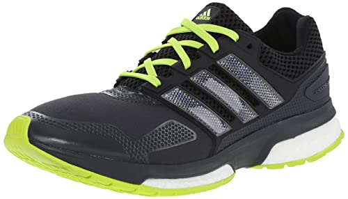 sports shoes b86b7 a9a67 adidas Performance Men s Response Boost 2 Techfit Running Shoe,  Grey Black Solar Yellow