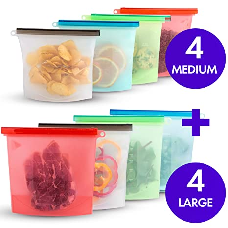 Amazon.com  Reusable Eco Silicone Food  e82ac70c9a8bb