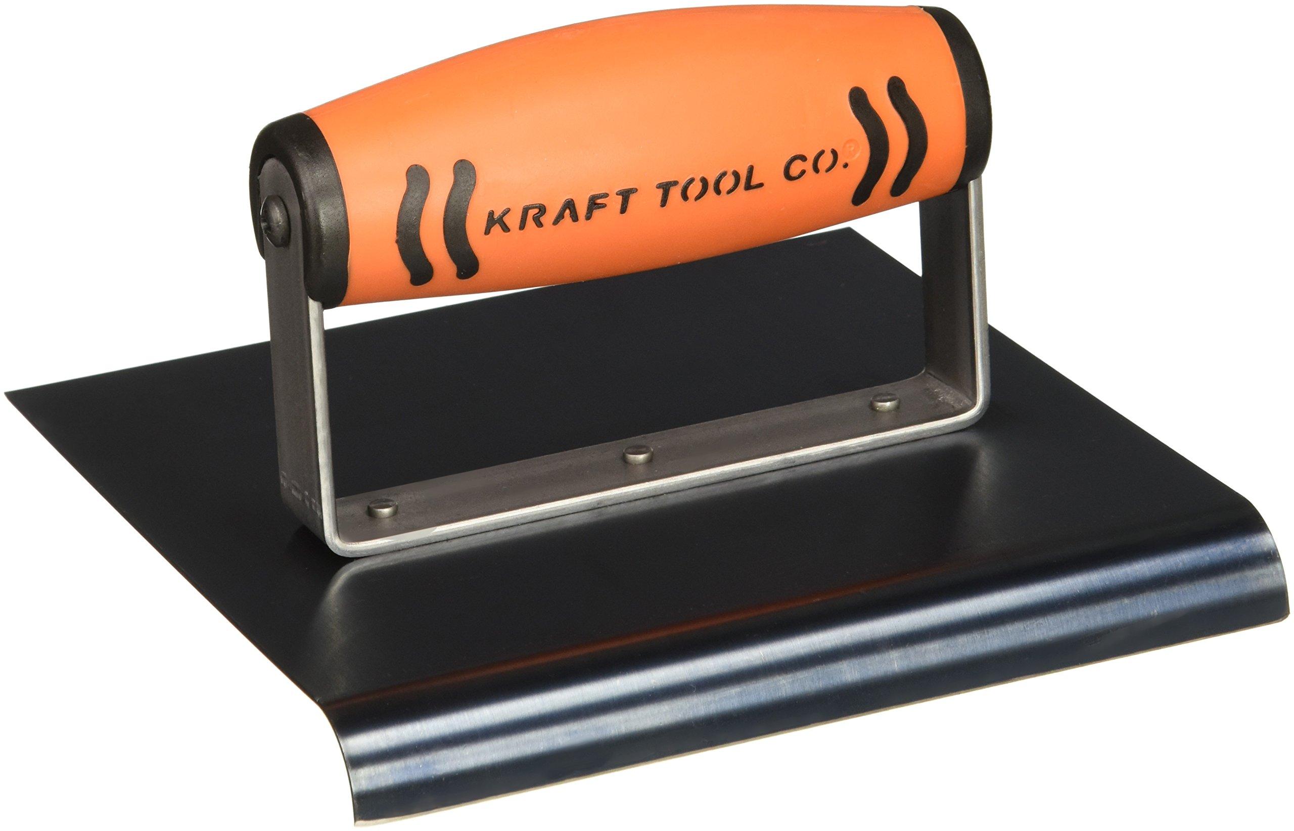 Kraft CF577PF 6''x6''x 1/2''Radius Blue Steel Edger ProForm Handle