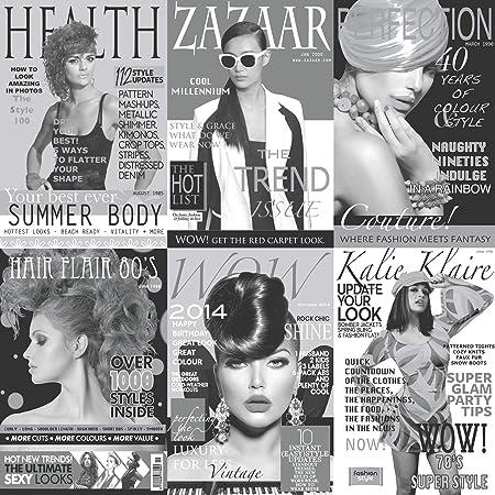 40 Years Of Fashion Mono Retro Magazine Wallpaper M0902