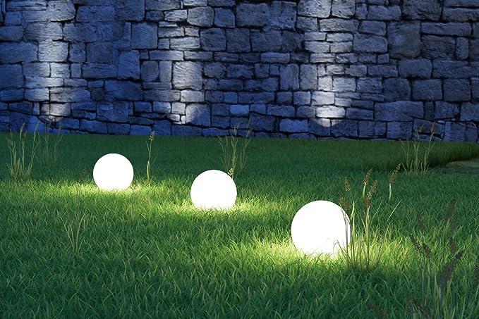 3 x led lampada solare da giardino lampada sferica lampada da mara
