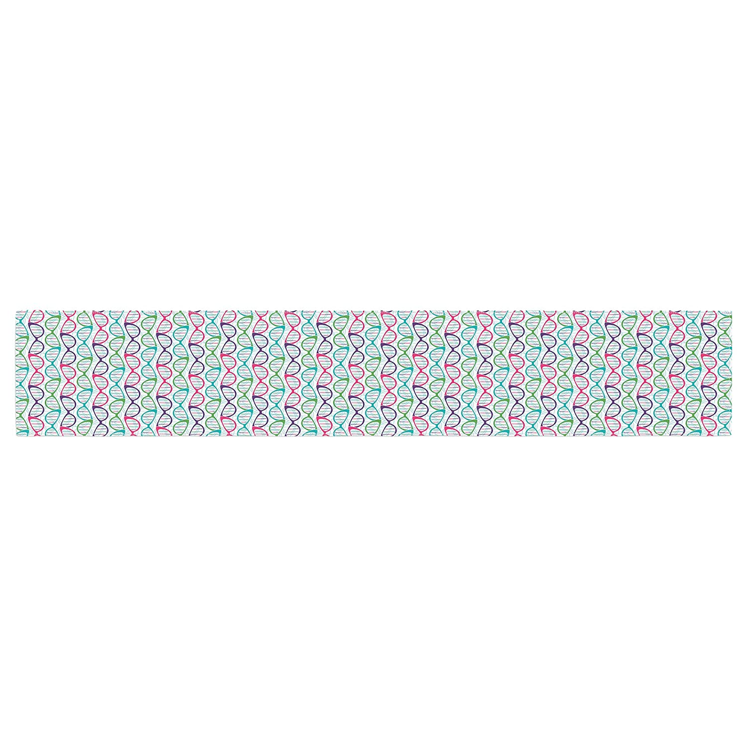 KESS InHouse Holly Helgeson Geeky DNA Pink Blue Table Runner 16 x 180