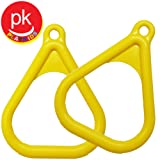 Swingset Playground Trapeze Rings Yellow Swingset Trapeze Rings Swing Accessories