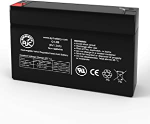 GE Simon 60-875 6V 1.3Ah Alarm Battery - This is an AJC Brand Replacement