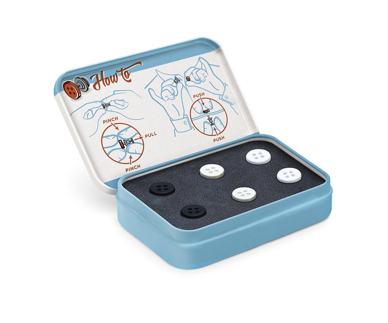 1.3 x 1.2 x 1.2 cm Luckies LUKBUT No Sew Buttons Bottoni di Emergenza Estremamente Utili Nero Metallo