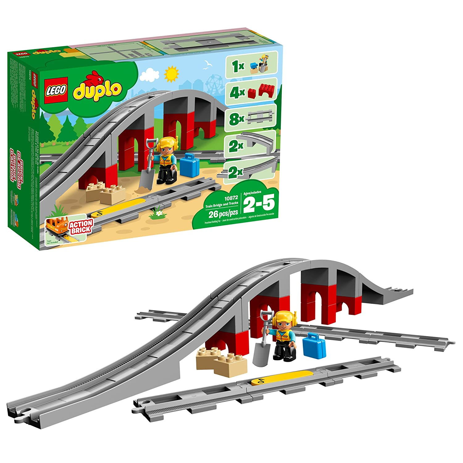 LEGO Duplo Train Bridge and Tracks 10872 Building Blocks (26 Piece) 6213749
