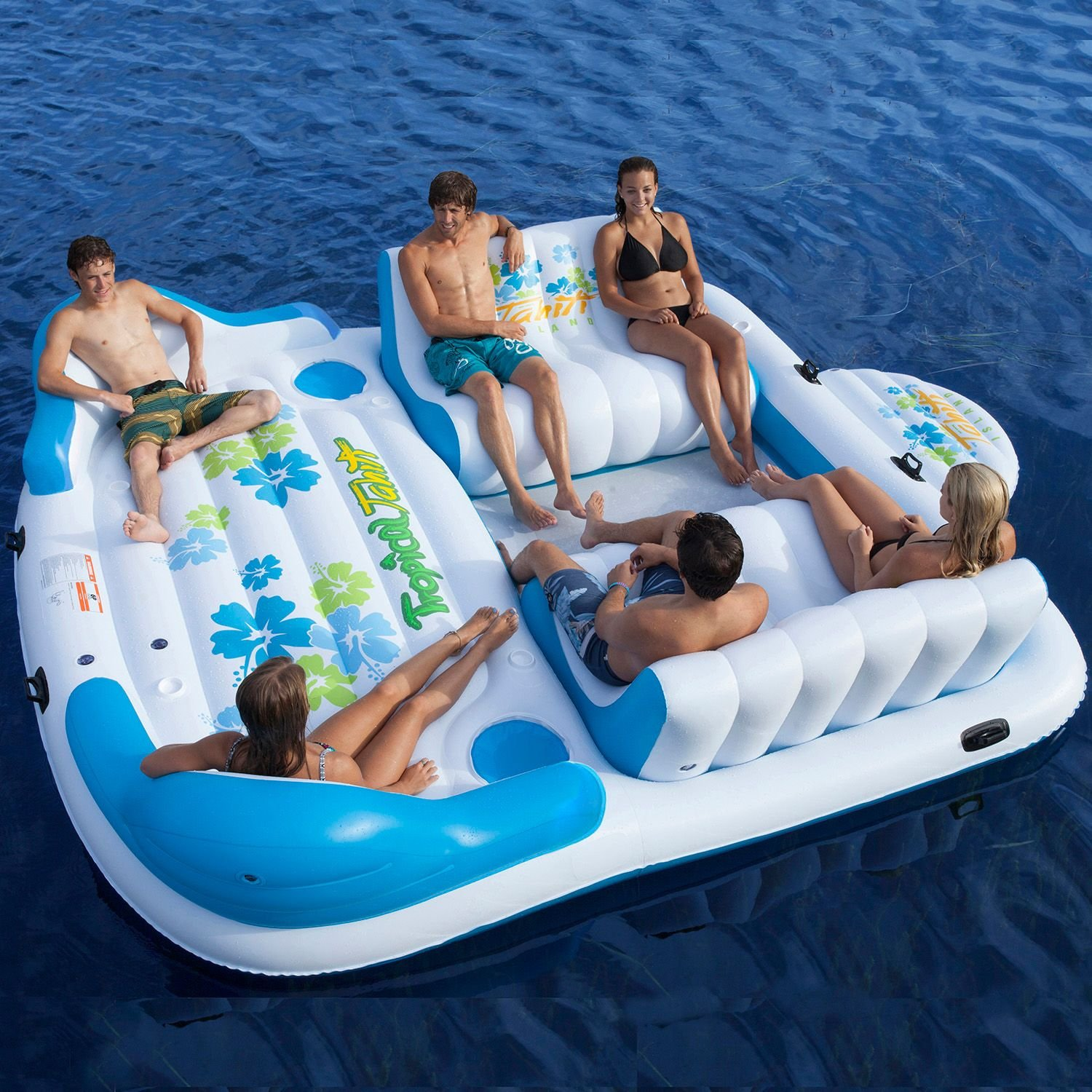 Com Tropical Tahiti Floating Island Lounger Seat With 6. Inflatable  Floating Island Supplieranufacturers ...