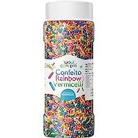 Wow Confetti™ Confeito Rainbow Vermicelli (Sprinkles), 125g